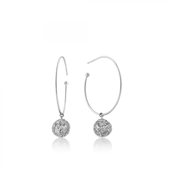 Boreas Hoop Earrings-Silver
