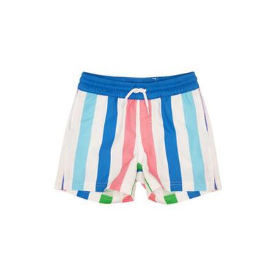 The Beaufort Bonnet Company-Turtle Bay Swim Trunks-Broad Street Stripe with Barbados Blue