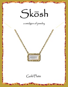 Skosh Mother of Pearl Necklace-Gold over Sterling Silver