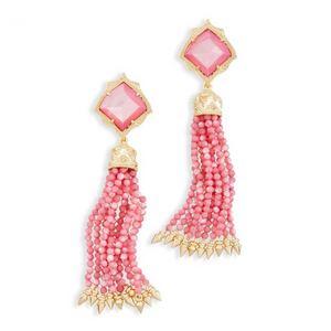SALE-Misha Earrings in Blush Mother of Pearl