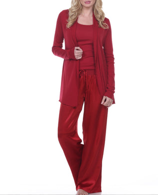 PJ Harlow-Amelia Knit Cardigan-Red