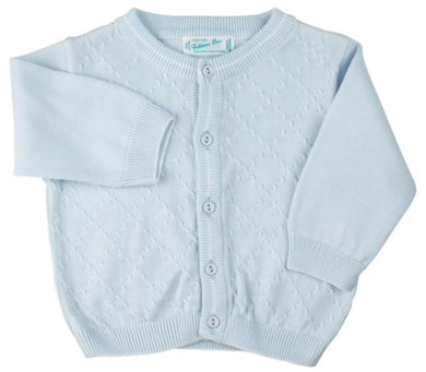 Feltman Cardigan-Diamond Knit Blue