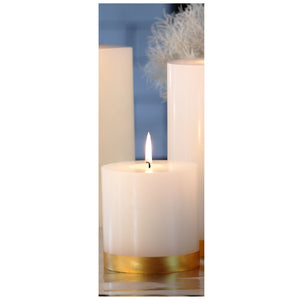 Gold Banded Pillar Candle