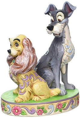 Disney Traditions-Opposites Attract Lady and Tramp Figurine
