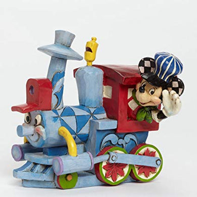 Disney Traditions-All Aboard the Birthday Train Mickey Mouse Figurine