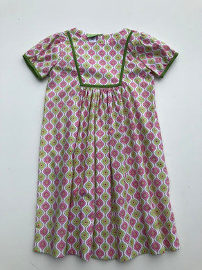 Le Za Me-Madi Pink & Green Patterned Dress