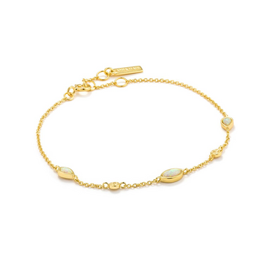 Opal Colour Bracelet-Gold
