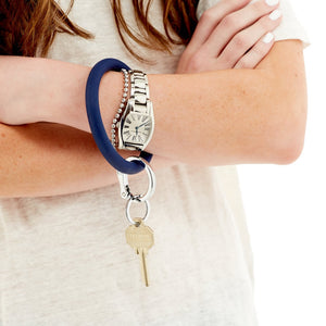 Silicone Big O® Key Ring - Midnight Navy