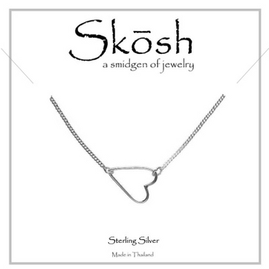 Skosh Sweet Heart Necklace-Sterling Silver