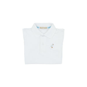 Prim and Proper Polo SS-Worth Avenue White