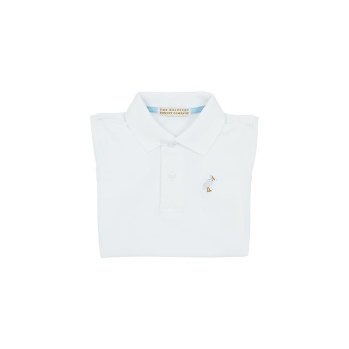 The Beaufort Bonnet Company-Prim and Proper Polo SS-Worth Avenue White