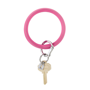 Vegan Leather Big O® Key Ring - Tickled Pink