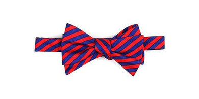Properly Tied-Boys Bow Tie-Navy and Red Stripe