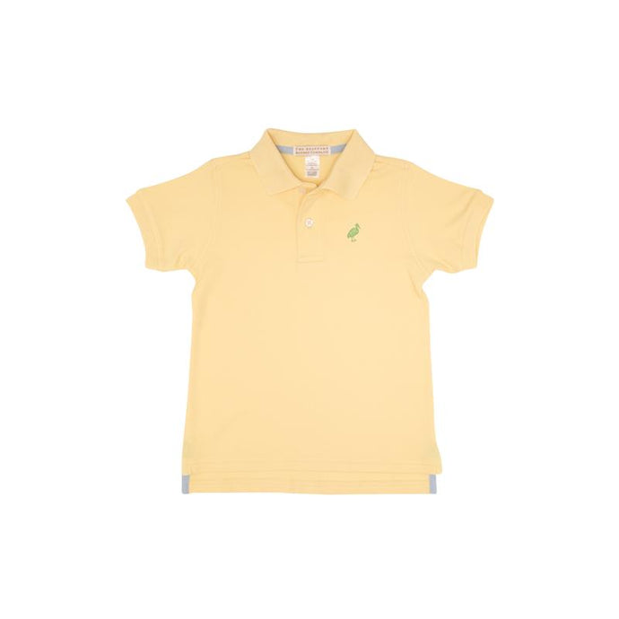 TBBC-Prim and Proper Polo SS-Seaside Sunny Yellow with Grenada Green Stork