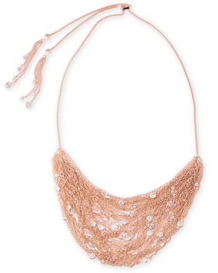 Anastasia Statement Necklace In Rose Gold