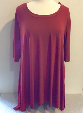 Tunic Top with Perfect Sleeves-Spice