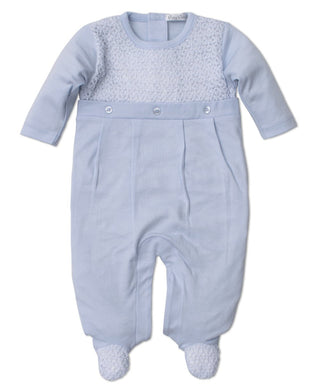 Kissy Kissy-Baby Boys Touch of Elegance Blue Footie