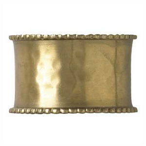 Napkin Rings-Hammered Brass