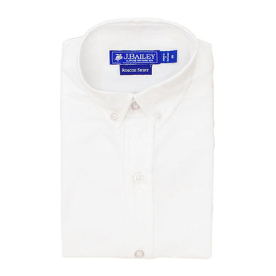 Roscoe Button Down-White Oxford
