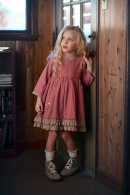 Little Prim-Evie Dress-Rose