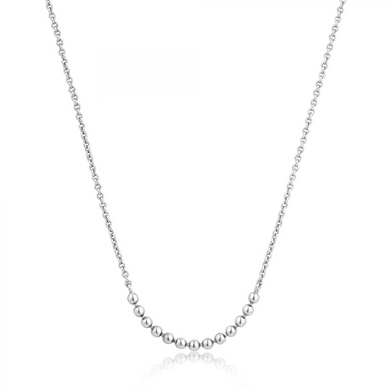 Modern Multiple Balls Necklace-Silver