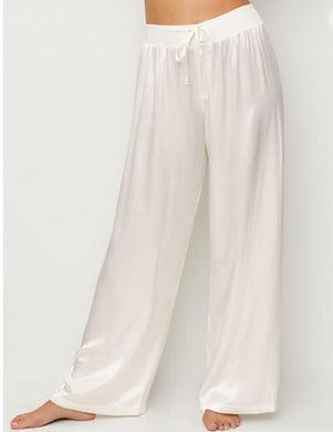 PJ Harlow-Jolie Satin Lounge Pants-Egg Nog