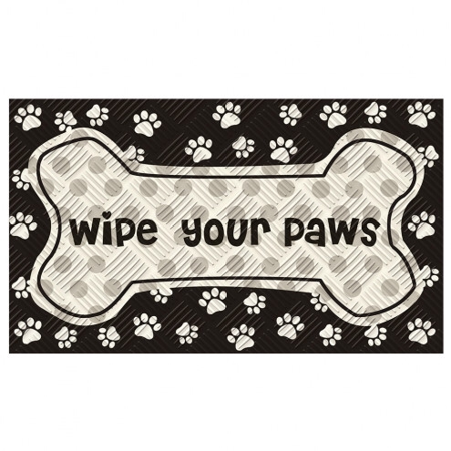 Embossed Floor Mat-Wipe Your Paws