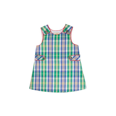 tbbc-Janie Jumper Primary School Plaid with Richmond Red