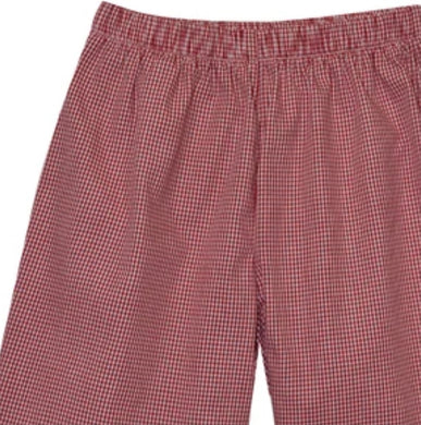 Burgundy Check Pull On Pant