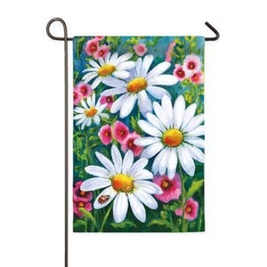Garden Flag-Big Daisies Satin