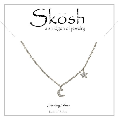 Skosh I Love You to the Moon and Back Necklace-Sterling Silver