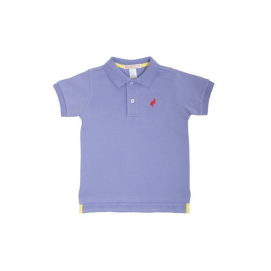 TBBC-Prim & Proper Polo SS-Park City Periwinkle with Richmond Red Stork