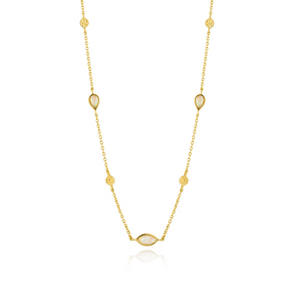 Opal Colour Necklace-Gold
