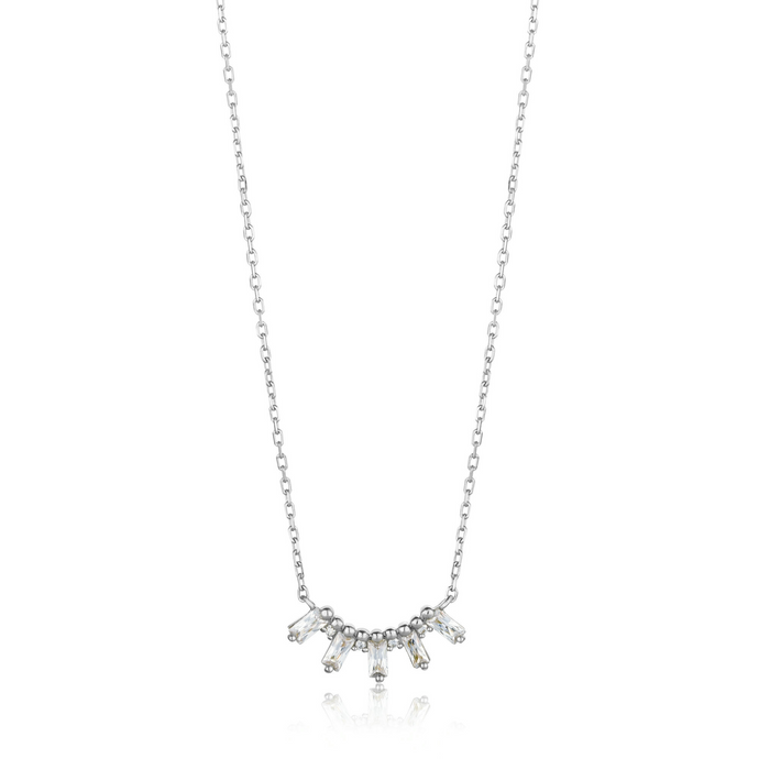 Glow Solid Bar Necklace-Silver