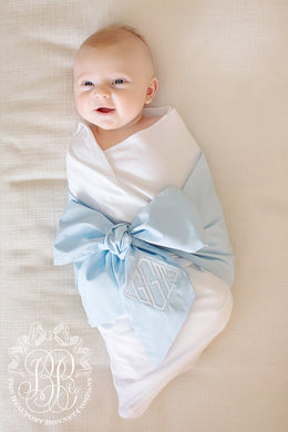 The Beaufort Bonnet Company-Bow Swaddle-Buckhead Blue