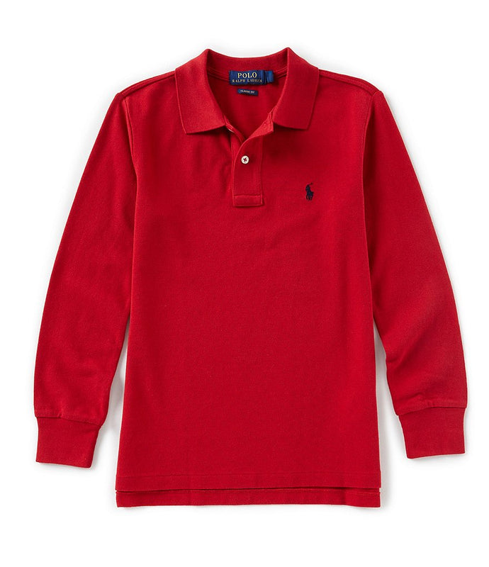 Ralph Lauren Polo-L/S-Red Polo Shirt