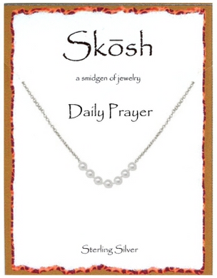"Sterling Silver 7 Pearl Daily Prayer Necklace-16""+ 2"" extension"