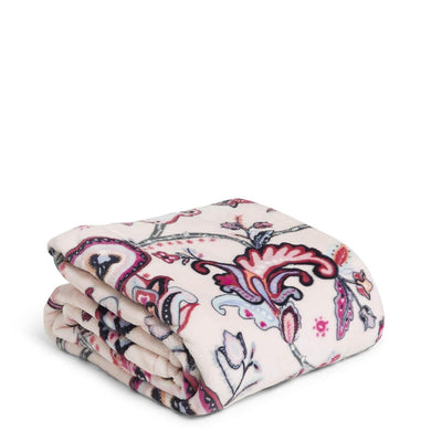 Felicity Paisley Pink-Plush Throw Blanket