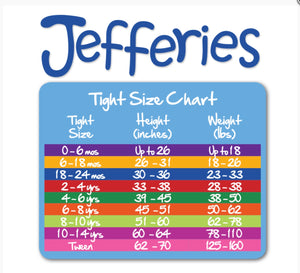 Jefferies-Girls Pima Cotton Ruffle Footless Tights (Navy, Red, & White)
