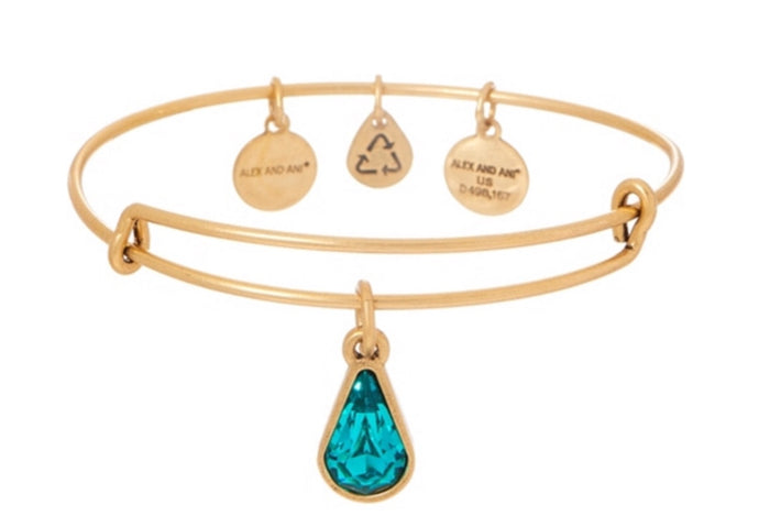 Birth Month Bangle-Gold-December