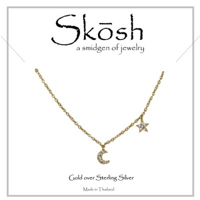Skosh I Love You to the Moon & Back-Gold over Sterling Silver