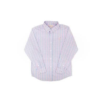 TBBC-Dean's List Dress Shirt Sir Proper's Signature Plaid with Plantation Pink Stork