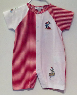 Kissy Kissy-Baby Boys Short Playsuit-Pirate's Booty Stripe