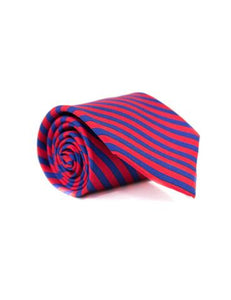 Properly Tied-Boys Neck Tie- Navy and Red Stripe