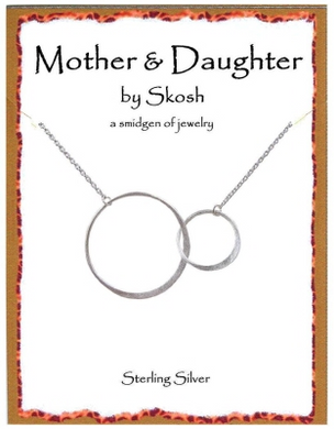 "Skosh Mother & Daughter Necklace-16"" + 1"" extension.-Sterling Silver"
