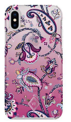 Felicity Paisley Pink-Case for Iphone X