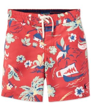 Ralph Lauren Polo-Red Hawaiin Swim Trunks