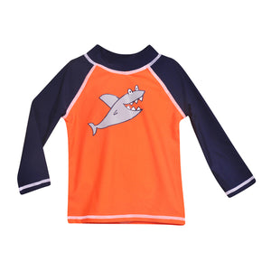 Flap Happy-Silly Shark Rash Guard Top