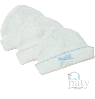 Paty Sailor Cap-White w/White Trim and White Bow