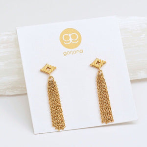 Petit Faryn Gold Fringe Earrings